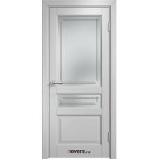 Дверь комбинированный массив Арсенал Мадера Микс Ол 85 ДОФ Белый грунт со стеклом матовым