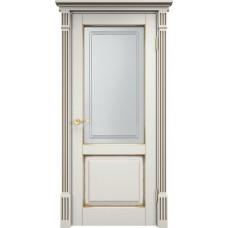 Дверь массив сосны Арсенал Мадера 112ш ДОФ Слоновая кость с патиной орех