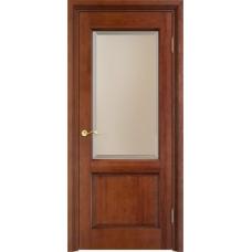 Дверь массив сосны Арсенал Мадера 117ш ДОФ Коньяк с патиной орех