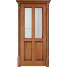 Дверь массив сосны Арсенал Мадера 15ш ДОФ Орех 10% с патиной орех