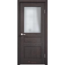 Белорусская дверь массив сосны Арсенал Мадера Нео 205ш ДОФ Сирень со стеклом матовым