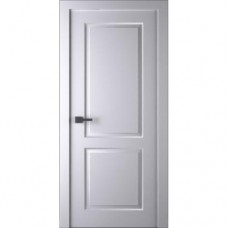 Белорусская дверь эмаль Belwooddoors Альта ДГ эмаль белая с зарезкой под замок