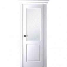 Белорусская дверь эмаль Belwooddoors Альта ДО эмаль белая с зарезкой под замок