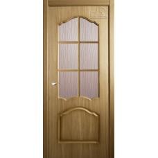 Дверь шпон Belwooddoors Каролина ДО с раскладкой дуб