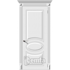 Дверь эмаль Demfa Джаз ДГ Белый