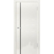 Дверь эмаль Dio Doors Квадро-1 ДО(ч) Ясень белый