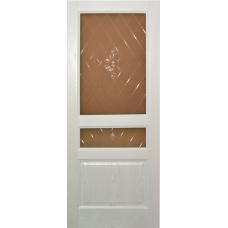 Ульяновская дверь шпонированная Дворецкий Готика ДО белый ясень