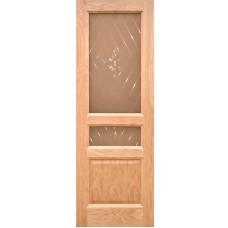 Ульяновская дверь шпонированная Дворецкий Готика ДО натуральный дуб