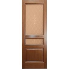 Ульяновская дверь шпонированная Дворецкий Готика ДО орех