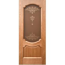 Ульяновская дверь шпонированная Дворецкий Венеция 3 ДО натуральный дуб