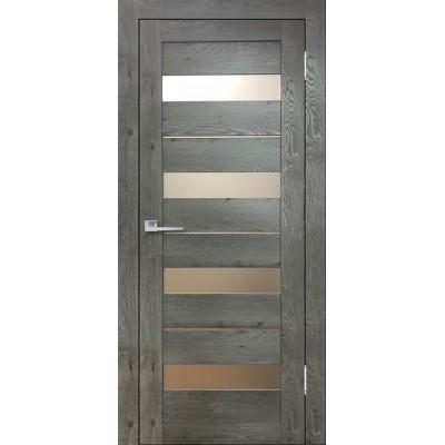 Дверь экошпон Eldorf Бавария 02 дуб эдисон серый