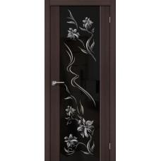 Дверь экошпон BRAVO el'PORTA S-13 Wenge Veralinga с зеркалом Print