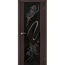 Дверь экошпон BRAVO el'PORTA S-13 Wenge Veralinga с зеркалом Stamp