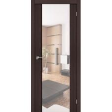 Дверь экошпон BRAVO el'PORTA S-13 Wenge Veralinga с зеркалом Reflex