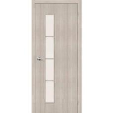 Дверь экошпон BRAVO Тренд-4 ДО Cappuccino Veralinga со стеклом Magic Fog