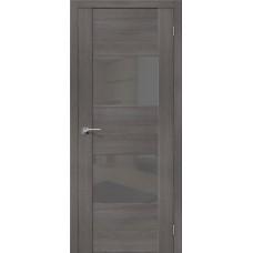 Дверь экошпон BRAVO el'PORTA VG2 ДО Grey Veralinga со стеклом Smoke