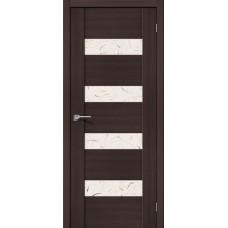 Дверь экошпон BRAVO el'PORTA VM4 ДО Wenge Veralinga со стеклом Silver Art