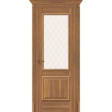 Дверь экошпон BRAVO el'PORTA Классико-13 ДО Golden Reef со стеклом White Crystal