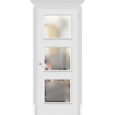 Дверь экошпон BRAVO el'PORTA Классико-17.3 ДО Virgin со стеклом Magic Fog