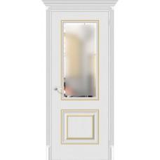 Дверь экошпон BRAVO el'PORTA Классико-33G-27 ДО Virgin со стеклом Magic Fog