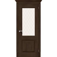 Дверь BRAVO El'Porta Классико-33  Dark Oak СТ-White Crystal