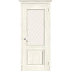 Дверь экошпон BRAVO el'PORTA Классико-33 ДО Nordic Oak со стеклом White Crystal