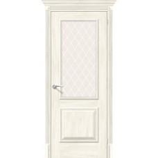 Дверь экошпон BRAVO el'PORTA Классико-13 ДО Nordic Oak со стеклом White Crystal