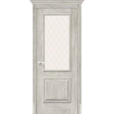 Дверь экошпон BRAVO el'PORTA Классико-13 ДО Chalet Provence со стеклом White Crystal