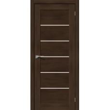 Дверь экошпон BRAVO el'PORTA Легно-22 ДО Dark Oak со стеклом Magic Fog