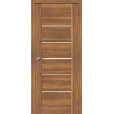 Дверь экошпон BRAVO el'PORTA Легно-22 ДО Golden Reef со стеклом Magic Fog