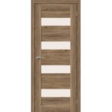 Дверь экошпон BRAVO el'PORTA Легно-23 ДО Original Oak со стеклом Magic Fog