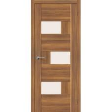 Дверь экошпон BRAVO el'PORTA Легно-39 ДО Golden Reef со стеклом Magic Fog