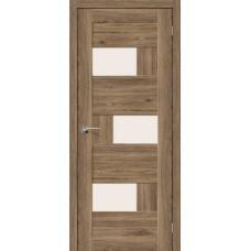 Дверь экошпон BRAVO el'PORTA Легно-39 ДО Original Oak со стеклом Magic Fog
