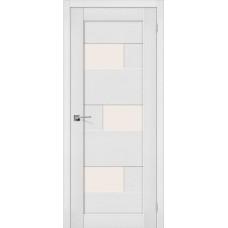 Дверь экошпон BRAVO el'PORTA Легно-39 ДО Virgin со стеклом Magic Fog