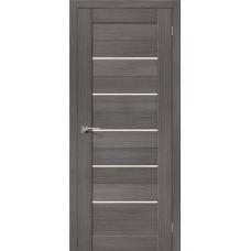 Дверь BRAVO el'PORTA Порта-22 ДО 3D Grey со стеклом Magic Fog
