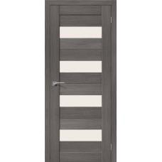 Дверь BRAVO el'PORTA Порта-23 ДО 3D Grey со стеклом Magic Fog