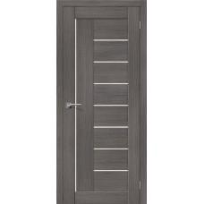 Дверь BRAVO el'PORTA Порта-29 ДО 3D Grey со стеклом Magic Fog