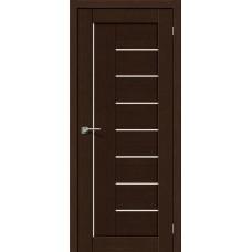 Дверь BRAVO el'PORTA Порта-29 ДО 3D Wenge со стеклом Magic Fog
