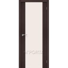 Дверь экошпон BRAVO el'PORTA Порта-13 ДО Wenge Veralinga со стеклом Magic Fog