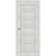 Дверь экошпон BRAVO el'PORTA Порта-22 ДО Bianco Veralinga со стеклом Magic Fog