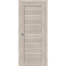 Дверь экошпон BRAVO el'PORTA Порта-22 ДО Cappuccino Veralinga со стеклом Magic Fog