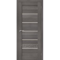 Дверь экошпон BRAVO el'PORTA Порта-22 ДО Grey Veralinga со стеклом Magic Fog