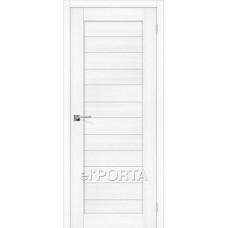 Дверь экошпон BRAVO el'PORTA Порта-22 ДО Snow Veralinga со стеклом Magic Fog