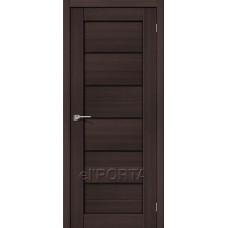 Дверь экошпон BRAVO el'PORTA Порта-22 ДО Wenge Veralinga со стеклом Black Star
