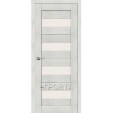 Дверь экошпон BRAVO el'PORTA Порта-23 ДО Bianco Veralinga со стеклом Magic Fog