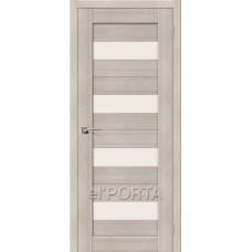 Дверь экошпон BRAVO el'PORTA Порта-23 ДО Cappuccino Veralinga со стеклом Magic Fog