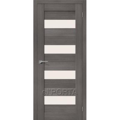 Дверь экошпон BRAVO el'PORTA Порта-23 ДО Grey Veralinga со стеклом Magic Fog