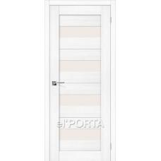 Дверь экошпон BRAVO el'PORTA Порта-23 ДО Snow Veralinga со стеклом Magic Fog
