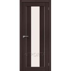 Дверь экошпон BRAVO el'PORTA Порта-25 alu ДО Wenge Veralinga со стеклом Magic Fog