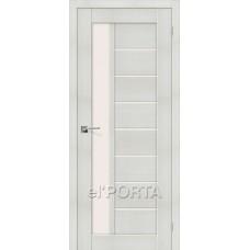 Дверь экошпон BRAVO el'PORTA Порта-27 ДО Bianco Veralinga со стеклом Magic Fog